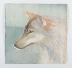 Wolf Portrait i 30x30cm watercolour
